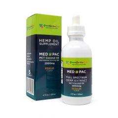 Green Garden Gold Med Pac CBD Oil 2000mg