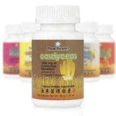 Mayway Plum Flower Herbal Extract Capsules Cordyceps