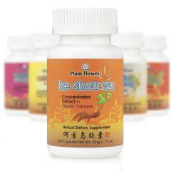Mayway Plum Flower Herbal Extract Capsules Fo-Ti