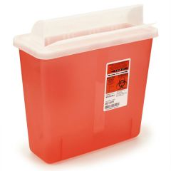 5 qt. Sage Biohazard Container (Fits Wall Mount)