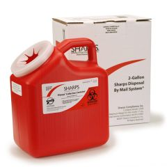 2 gal. SCI Sharps® Biohazard By Mail