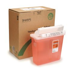 5 qt. SCI Sharps® Biohazard By Mail (Fits Wall Mount)