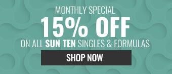 15% OFF ALL SUN TEN SINGLE HERBS & FORMULAS