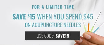 Save $15 on Acupuncture Needles