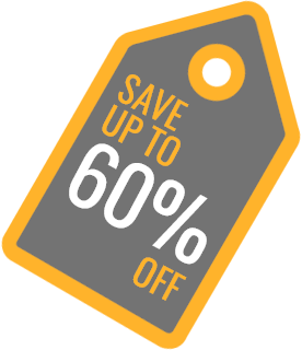 Save up to 60%